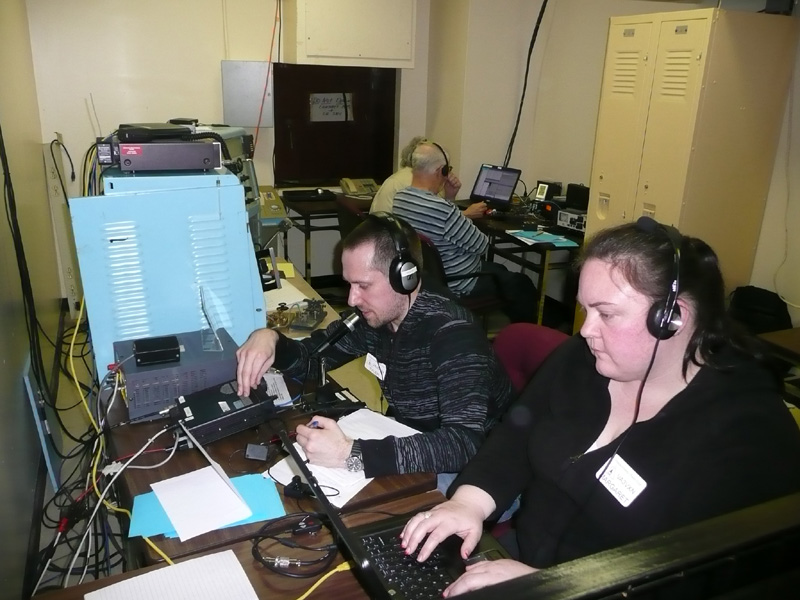 Shown here are Tyler and Margret Tideman, a husband and wife team of avid ham operators.