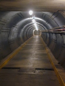 The entrance to the Bunker is half-way along this 378 foot long tunnel.